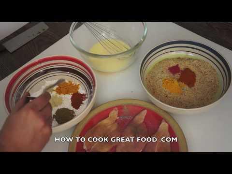 Crispy Juicy Fried Chicken Tenders Recipe - Crunchy KFC Fillet Homemade Nuggets