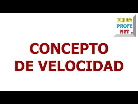 6. CONCEPTO DE VELOCIDAD