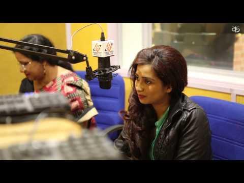 Shreya Ghoshal at Sabras Radio studios ( UK CONCERT )