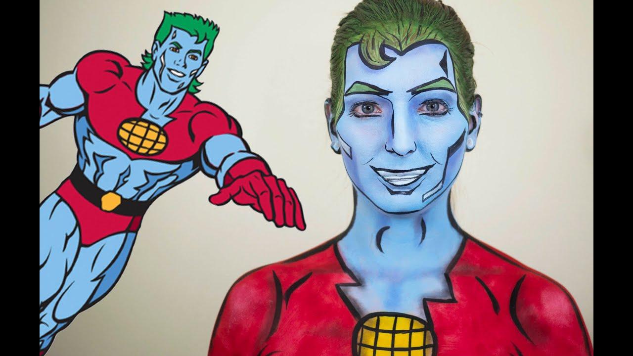 captain planet face paint - youtube