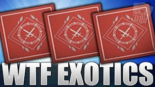 destiny wtf exotics opening 9x weekly crucible lord shaxx bounty packages