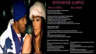 jennifer lopez feat ll cool j all i have   lyrics