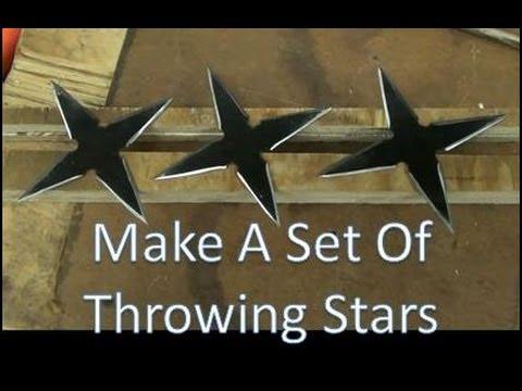 How To Make A Set Of Throwing Stars, Shuriken,  Real Metal, Easy To Make