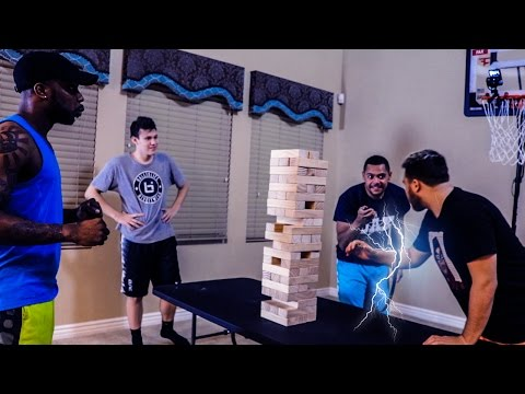 GIANT SHOCKING JENGA!
