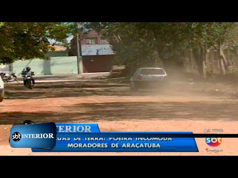 Ruas de terra: poeira incomoda moradores de Araçatuba