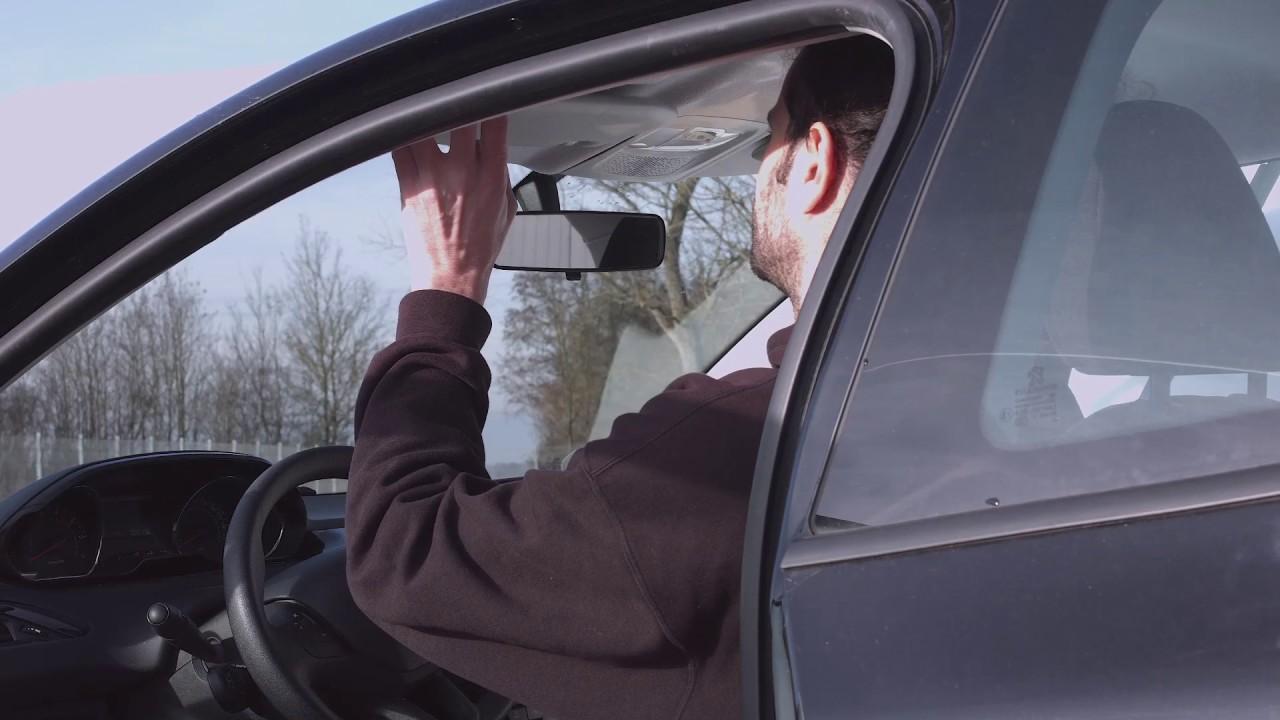 lescars universal tag nacht auto blendschutz f r die sonnenblende 30x13 cm youtube. Black Bedroom Furniture Sets. Home Design Ideas