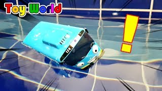 TAYO in the water ! Tayo Bus in Real Life. Bus toy play. TOY WORLD