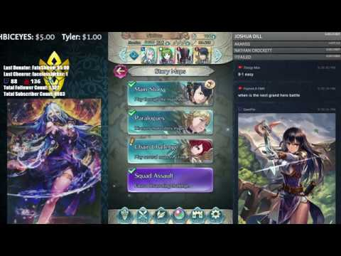 【Fire Emblem Heroes】 Performing Arts Banner and Tier 20 Arena Duels! Come Chat and Chill! :D