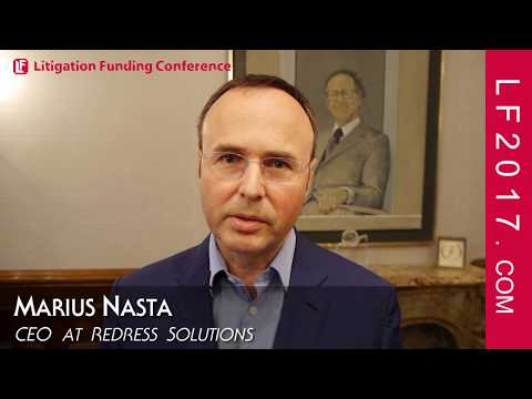 Marius Nasta CEO Of Redress Solutions October 2 LF2017 Litigation Funding Conference And Expo