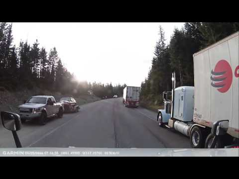 Truck crash. The mountains claim another one.