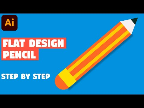 Create pencil in 5 EASY STEPS | Illustrator CC tutorial thumbnail