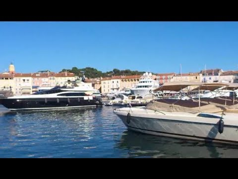 Port de Saint Tropez et ses yachts - Harbour of Saint Tropez and yachts