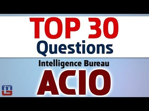 Top 30 Questions   Intelligence Bureau ACIO   General Studies   All Competitive Exams