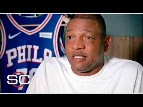 Doc Rivers reacts to Paul George's slight, discusses coaching Embiid and Simmons | SportsCenter