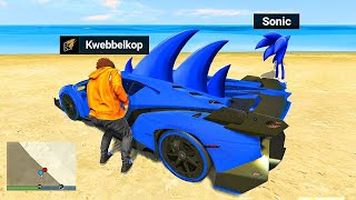 Stealing SONIC SUPER CARS In GTA 5 RP!