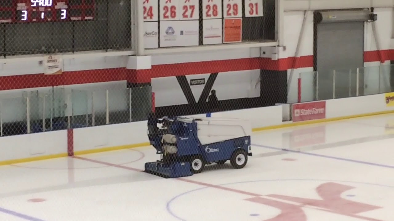 zamboni flood from the stands youtube