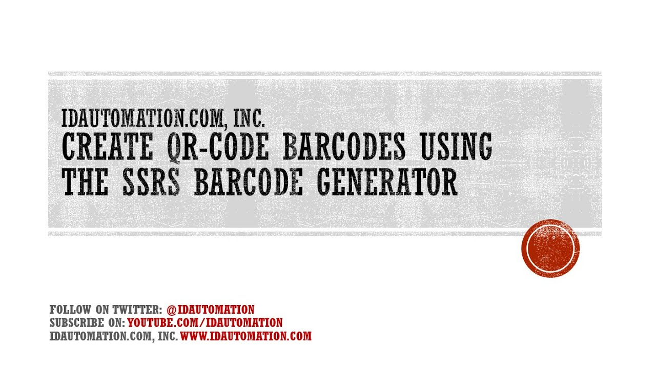 How to create #QRCode Barcodes using the Native Barcode Generator for SSRS
