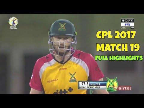 CPL T20 2017 Match 19 - Guyana Amazon Warriors vs Barbados Tridents Full Highlights HD