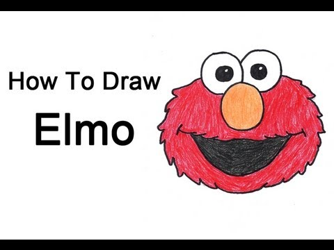 How To Draw Elmo