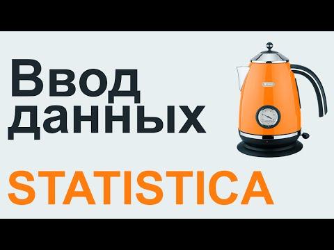 STATISTICA Лаб 01 - Ввод данных