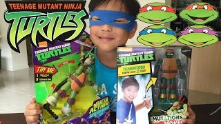 Ninja Turtles TMNT FIGURE TO WEAPON/Toy Review & Unboxing