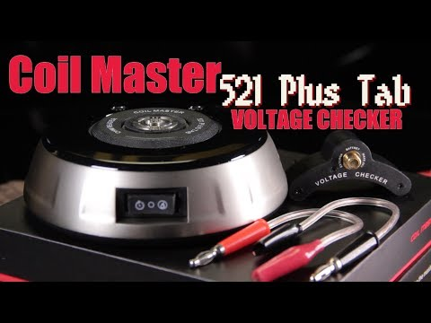 New 521 PLUS TAB by Coil Master (Ohm meter, Coil rebuilding deck, Battery output voltage testing)