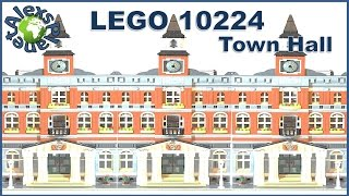 Lego Town Hall Build Review. Lego 10224.