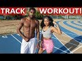 Rashaad v.s. ItsBabyJ Track and Field Sprint Workout!