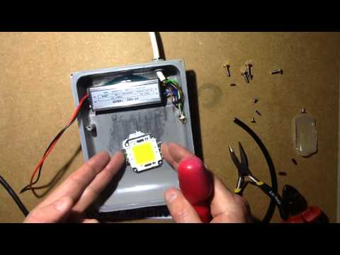 How To Change LEDs And Drivers In LED Floodlights.