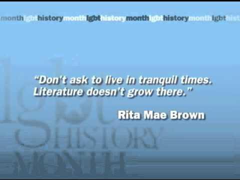 LGBT History Month 2011 - Rita Mae Brown