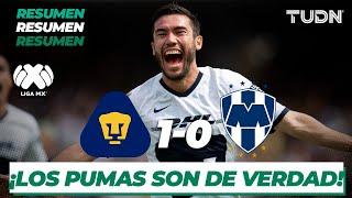 Resumen y Goles   Pumas 1 - 0 Rayados  Liga Mx - CL 2020 J-3   TUDN