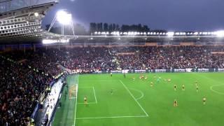Man United Fans After Winning Goal Vs Hull City