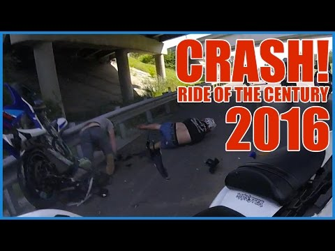 MOTORCYCLE CRASH At RIDE OF THE CENTURY 2016