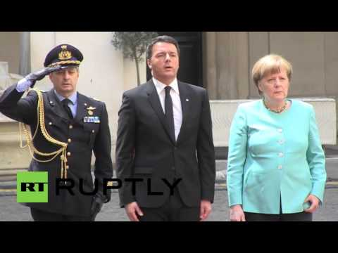 Italy: Merkel meets Renzi in Rome for talks on EU's future