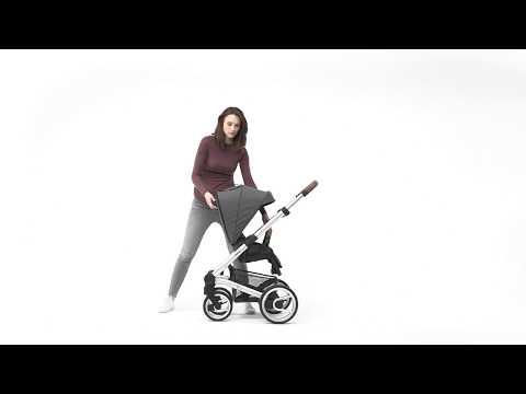 Mutsy Промо пакет Шаси Mutsy Nio Dark Grey+ Кош за новородено и Седалка и сенник Mutsy Nio Inspire Light Shade #o95GcIXVyF0