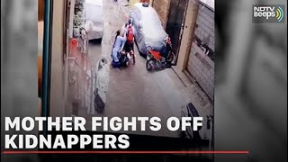 Caught On CCTV: Mother Fights Off Kidnappers, Saves Daughter | NDTV Beeps