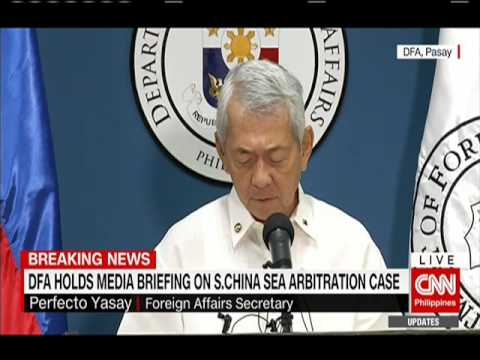 DFA holds media briefing on South China Sea arbitration case
