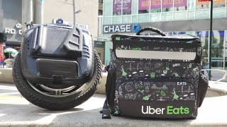 Delivery NYC Electric Unicycle Part 1 VLOG #TheGrandeurLife#Delivery #NYC