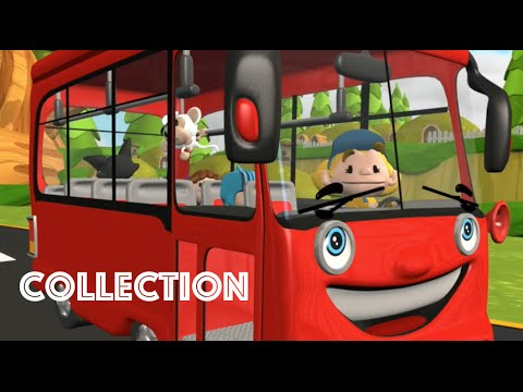 The Wheels On The Bus | Red Bus | Nursery Rhymes Collection for Children | Baby Songs