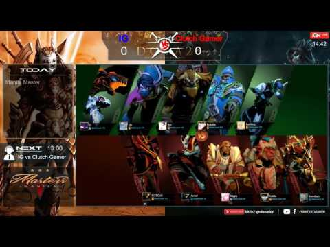 IG vs Clutch Gamer | Game 1 | Manila Master @July