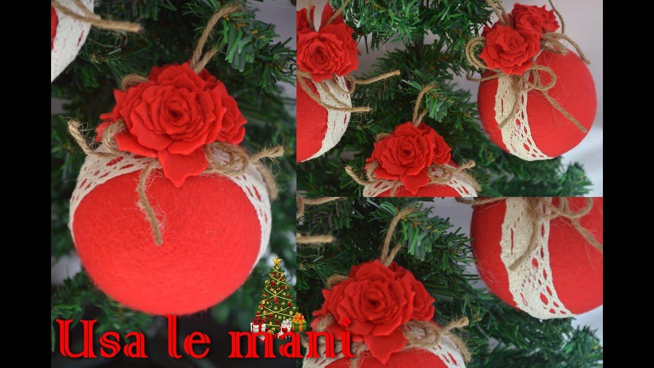 Natale fai da te palline di polistirolo rivestite di for Camino finto fai da te natale