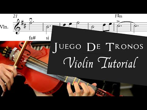 Game Of Thrones Violin Tutorial + Partitura + Pista de Piano / Juego De Tronos / Como Tocar thumbnail