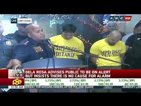 PNP chief Ronald Dela Rosa Press conference about bomb threat US embassy