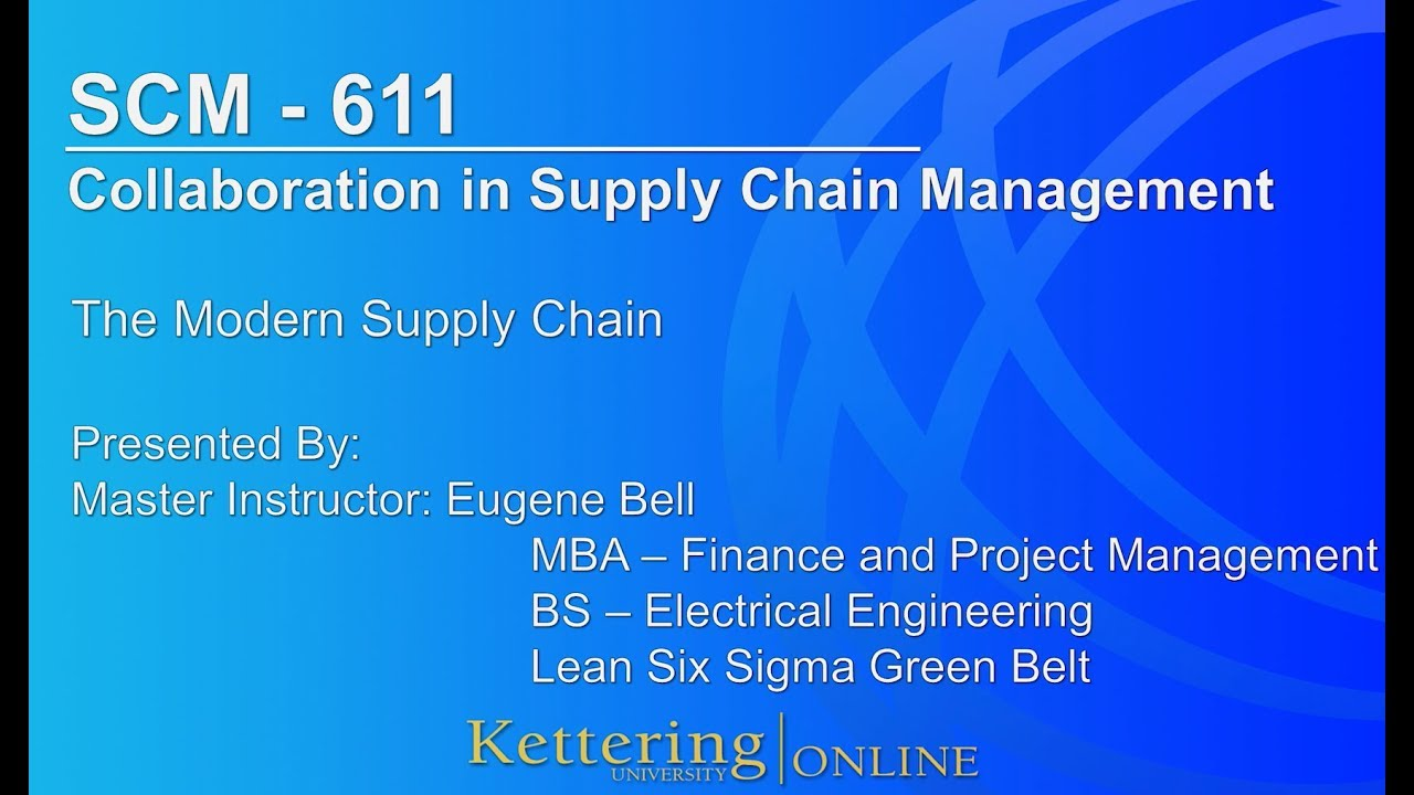 Masters in Supply Chain Management Online | Kettering University