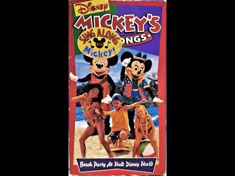 Mickey's Fun Songs - Beach Party at Walt Disney World (1995 VHS) full in HD