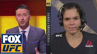 Amanda Nunes talks after beating Shevchenko | INTERVIEW | UFC 215