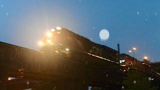 CN + UP Power on CSX K898 Molten Sulpher Train, Richmond VA