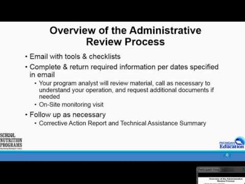 ODE - School Nutrition Administrative Review, Part 1