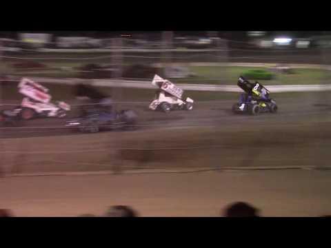 Jamestown Speedway NOSA Sprint Car A-Main (6/10/17)