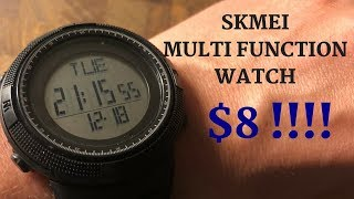 This $8 Watch Has All The Functions You Need - SKMEI Review